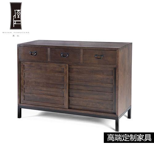 Fei Mu few high-end custom furniture wood corner a few new Chinese side Sideboard side table DP118
