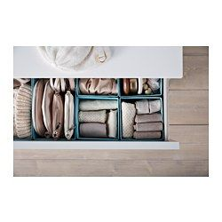IKEA - SKUBB, Box, set of 6, , Helps you organize socks, belts and jewelry in your wardrobe or chest of drawers.When the box is not in use and you want to save space, simply open the zipper in the bottom and fold it flat.