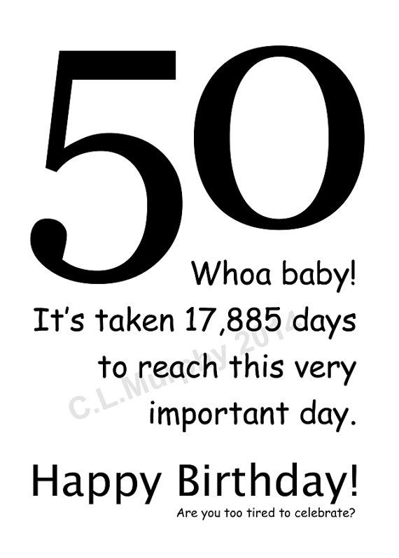 DOWNLOAD 50th Birthday Turning 50 Happy by blessinganother on Etsy, $4.00