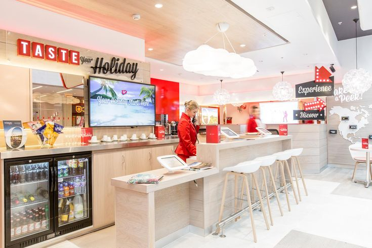 The Virgin Holidays stores have been designed so that customers can partake in a number of interactive experiences that help them to imagine the destinations they are interested in.