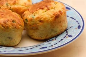 Grab and Go ~ Cottage Cheese and Egg Breakfast Muffins with Bacon and Green Onions by jill