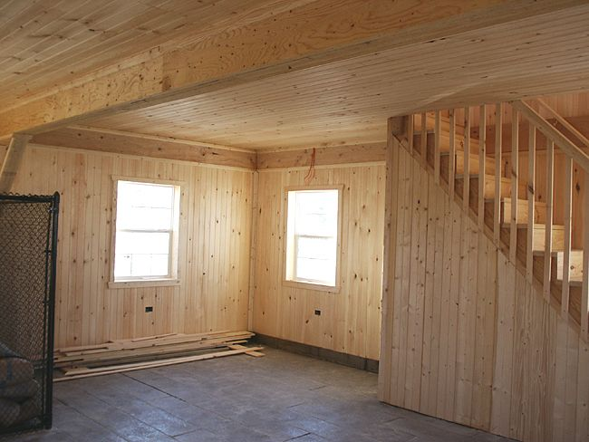 Inside Of Finished Pole Barn Barn Shown With Finished