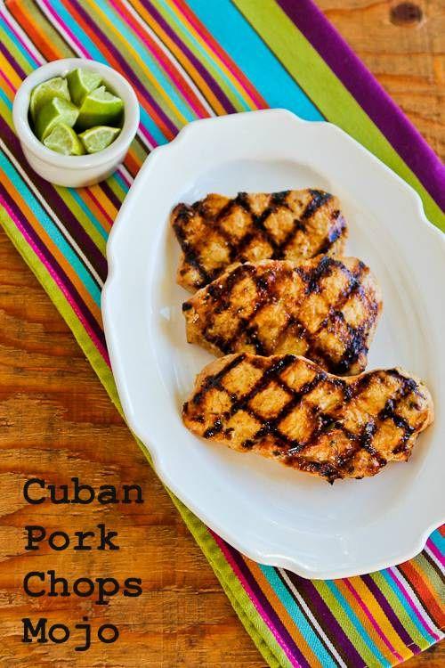 Grillé cubain Côtelettes de porc Mojo