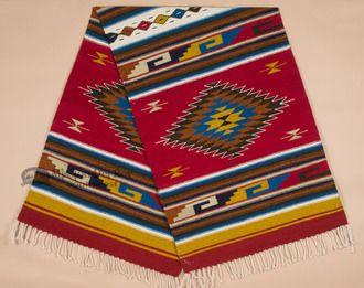 Hand Woven Zapotec Wool Floor Runner 30x96 (r219)