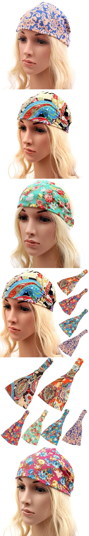 Women Boho Floral Wide Bandana Headband Elastic  Running Headwrap Hair Band In Stock Fast Ship