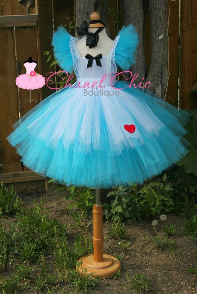 Alice in Wonderland inspired tutu dress
