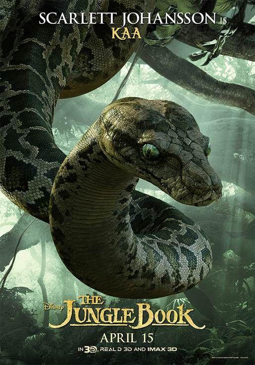 The Jungle Book Scarlett Johansson Kaa Poster
