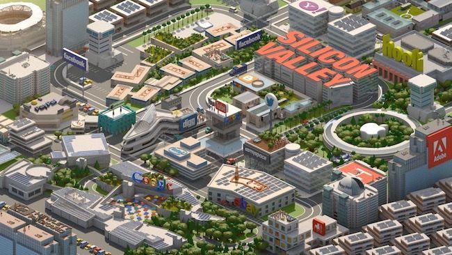 La Silicon Valley est une zone d'activité près de San Francisco, en Californie, qui héberge Google, Facebook, Apple, Microsoft, eBay, Yahoo!, Youtube, etc.
