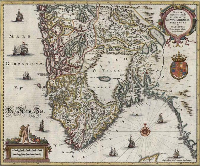 Ka e Vindafjord, - Det at Ryfylke har endra seg er berre småtteri i forhold til kva ein finn i gamle kart. For nokre år sidan reiste ein kar frå Stavanger til London for å leita i gamle arkiv. Han fann eit kart som var teikna og fargelagt av den nederlandske kartografen Johannes Janssonius frå 1636 til 1642. Dette kartet kan ein sjå ei lita utgåve av HER.