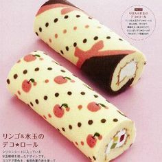 Decorated cake roll