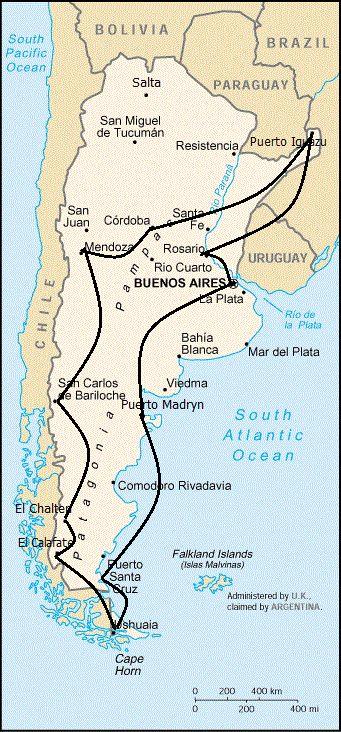 El ambiente: llanura de Argentina. el cielo es azul. no se movía una nube; vacas pastaban; vacas pastaban.