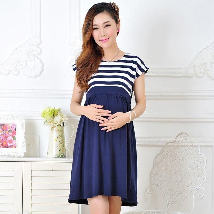 De maternité dress casual coton de maternité vêtements plus taille ledies bande robes Enceintes robe amarelo YYT026-029