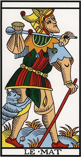 The Fool - Tarot de Marseille :::: http://tarot-heritage.com/2013/09/15/the-way-of-tarot-by-alejandro-jodorowsky-and-marianne-costa/
