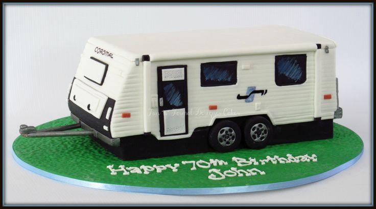 Caravan birthday cake.