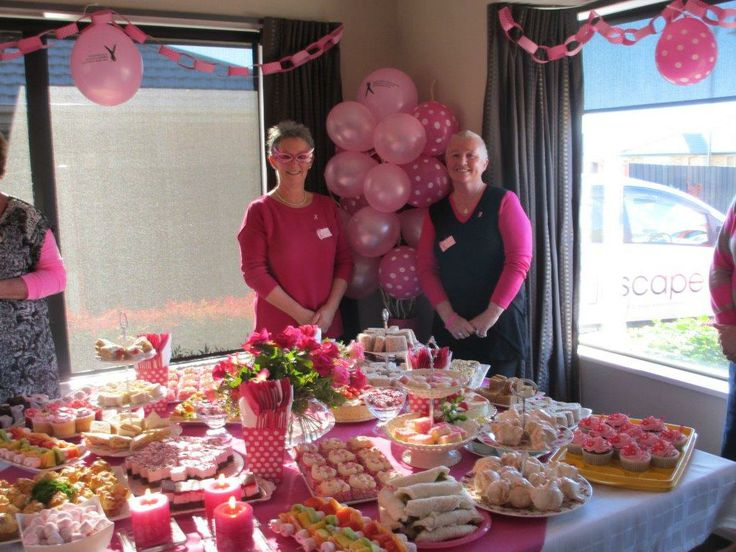 Pink Ribbon Breakfast host Susan on the left and her friend Christine!