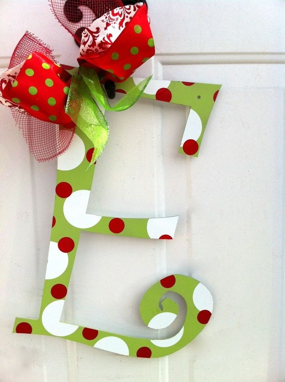 Letters To Hang On Front Door Part - 37: Cute Letter Decor Idea For Stocking Accents, Wreaths, And Ornaments