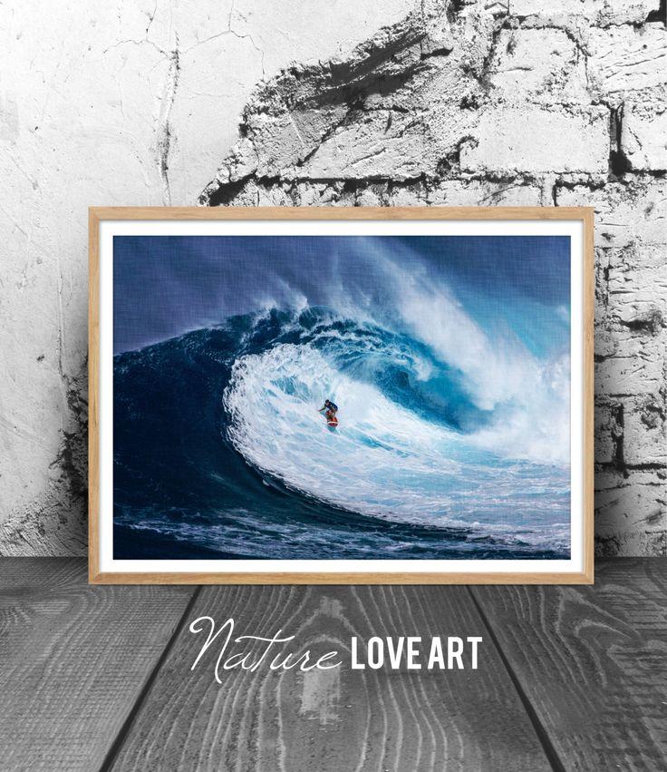 Photographie surf, photo océan, photo vagues, décoration mer, tableau vagues, décoration nature, art mural, impression numérique, surf de la boutique NatureLoveArt sur Etsy