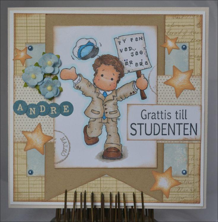 Idag bloggar jag ett studentkort på Scrapfabriken! Det är ju snart dags för studentsången även om det är svårt o tro när man tittar på term...