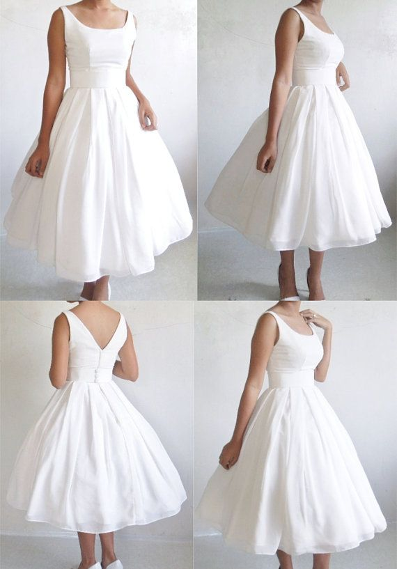 Limited Sale 50s inspired gown in Ivory chiffon by elegance50s  {I am so in love with this dress!}