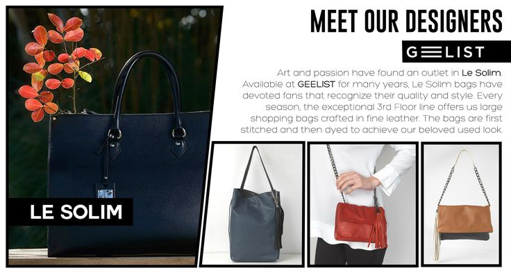 Today we present to you: Le Solim! In this brand, creativity is entrusted to a team of stylists that through experience and continuous research, ensure high-quality handbags focusing on peculiarities and uniqueness of each product's details! Le Solim products are designed using natural leather aiming to produce unique accessories for a classy, yet trendy woman.