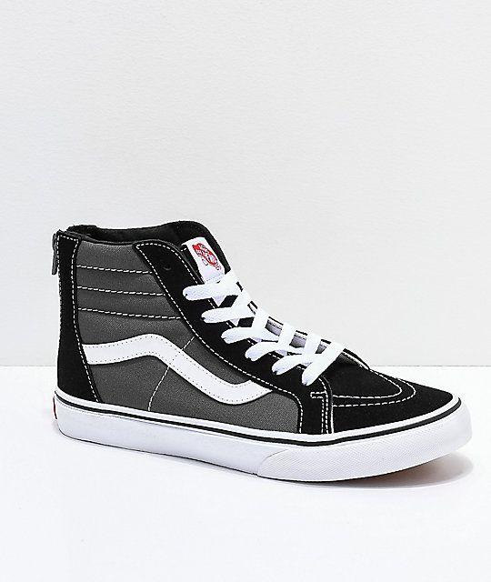 Vans Sk8-Hi Zippered Black 300b3b02e