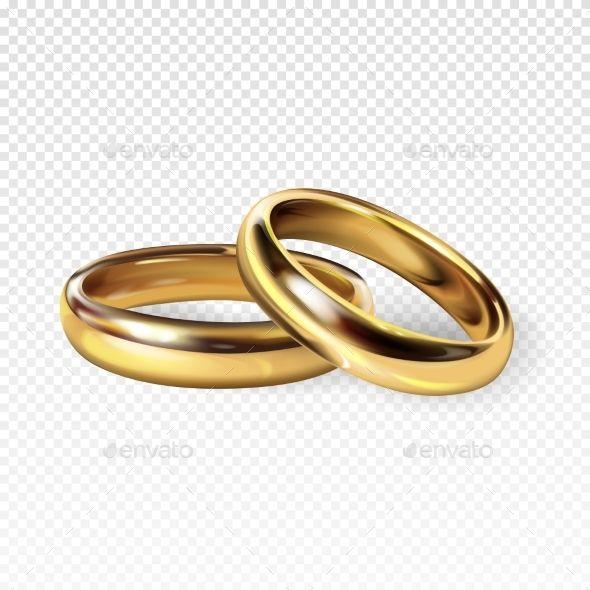 Golden Wedding Rings Vector Illustration Wedding Golden Rings