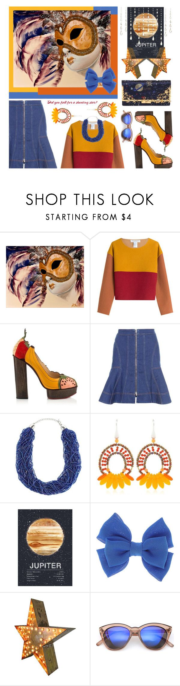"""She's Back In The Atmosphere - With Drops Of Jupiter In Her Hair"" by sharee64 ❤ liked on Polyvore featuring Philosophy di Lorenzo Serafini, STELLA McCARTNEY, John Lewis and Ziio"