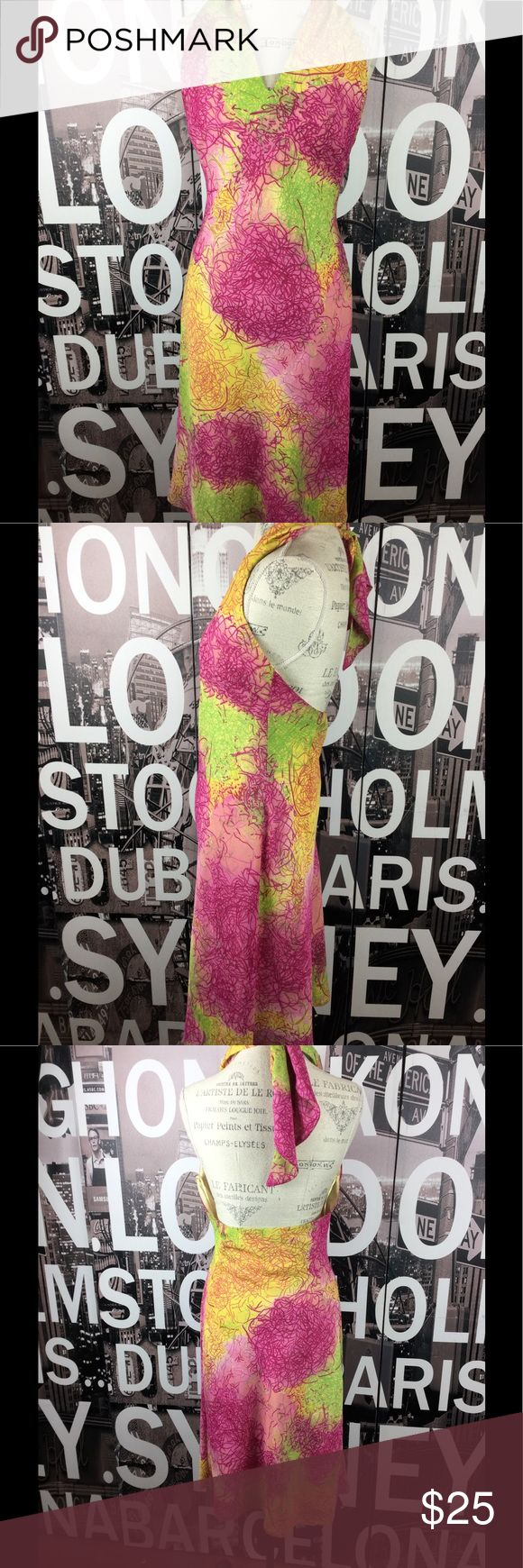 Adolfo Dominguez halter tie back dress Stunning and perfect for summer. Halter dress with tie back. Euro size 44. Size 14 US. Excellent condition. Length 45 Bust 18 Waist 16.5 Hips 21 Adolfo Dominguez Dresses Backless