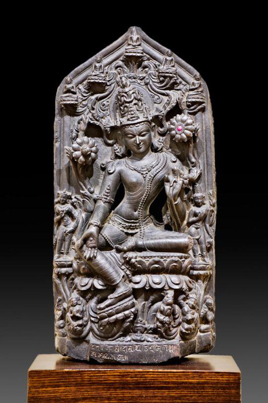 Avalokitesvara  Eastern India Pala Dynasty, Circa 12th century Black stone