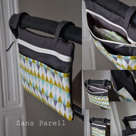 """Petit sac """"vide poche"""" /change : on peut y glisser une couche, lingettes, paquet de mouchoir, tétine, téléphone ou autres bricoles... Idéal par exemple pour une petite ballade - 17755668"""