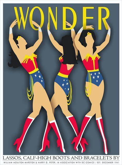 Wonder Woman Art Deco or future Olympics logo contender?