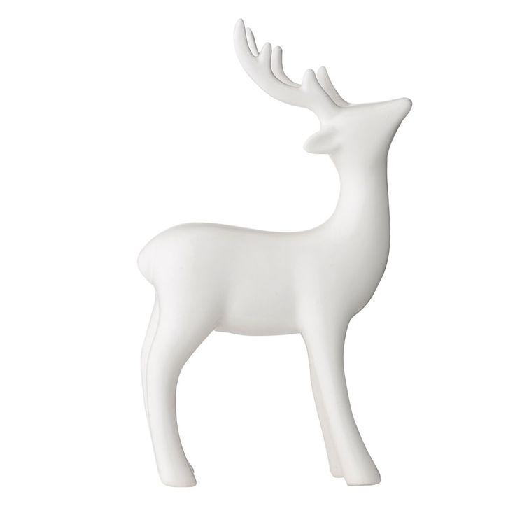Bloomingville / Dekoratívna porcelánová soška Jeleň 17cm    http://www.bellarose.sk/dekorace/dekorativna-porcelanova-soska-jelen-17cm/