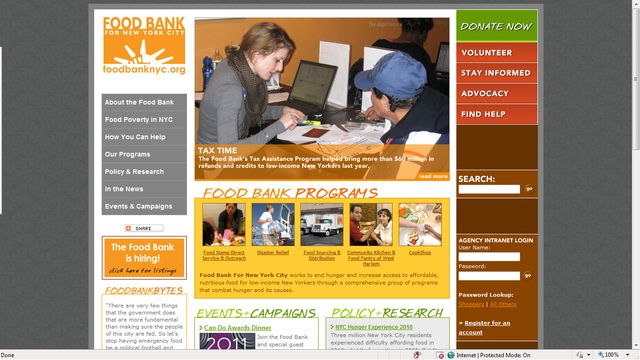Nonprofit Mission Statements for Today's Donors: Food Bank For New York City