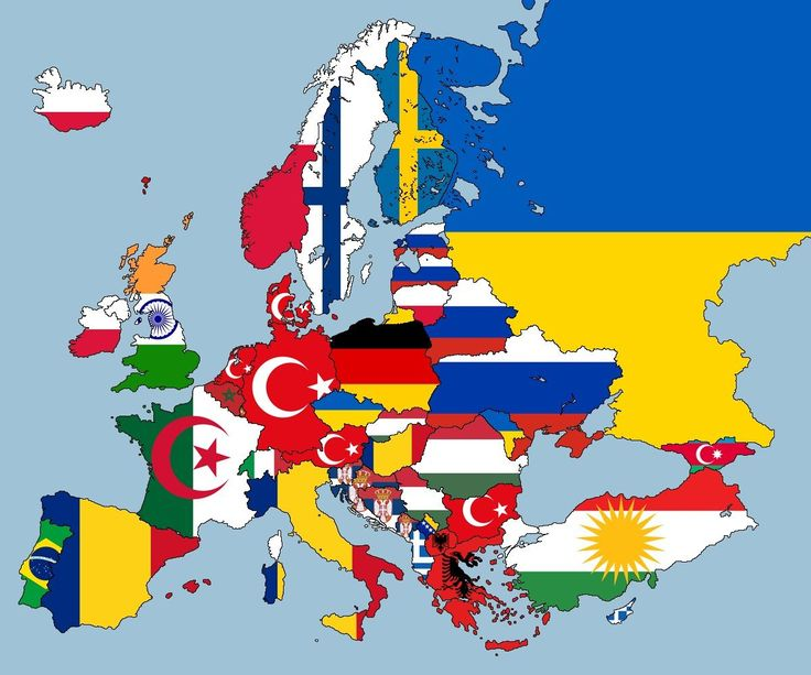 Mapped: European nations according to second largest nationality within them. Pinned by #Europass