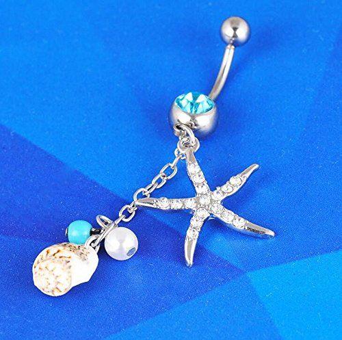 nice Ombligo de Acero Quirúrgico circonitas cristal oro/plata estrella de mar conchas perlas nautisch Mar Báltico Mas info: http://comprargangas.com/producto/ombligo-de-acero-quirurgico-circonitas-cristal-oroplata-estrella-de-mar-conchas-perlas-nautisch-mar-baltico/