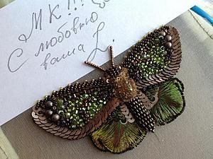 Вышиваем бисером элегантную бабочку. Часть вторая | Ярмарка Мастеров - ручная работа, handmade