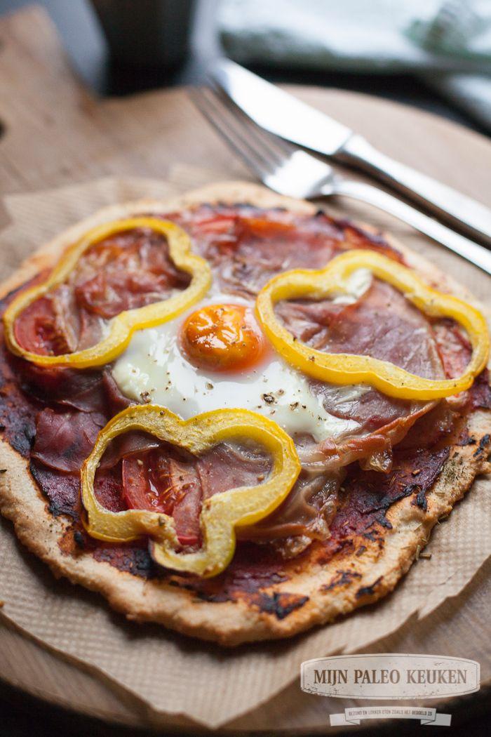 Paleo pizzabodem van tapioca meel en kokosmeel