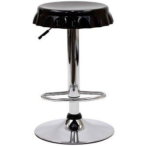 LexMod Soda Bottle Bar Stool in Black