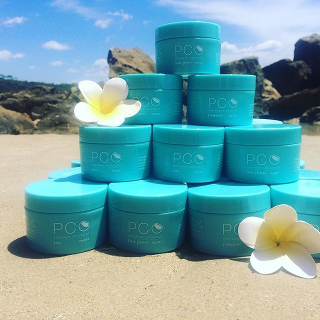 A tower of goodness!   Exotic coconut oil from the trees of Tahiti to the shores of Australia.