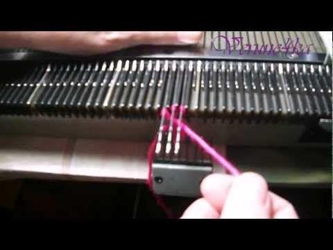 Вяжем декоративный круглый шнур на вязальной машине. - YouTube
