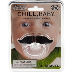 I recently purchased this for a friend as a baby gift. super hit!!  Tilly's  Chill Baby Mustache Pacifier