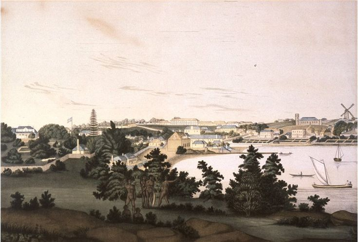 View of Sydney from the east side of the Cove, 1810. Painting by John Eyre