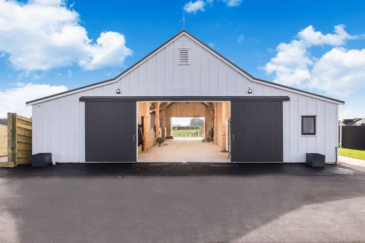 Great expansive barn doors a real feature