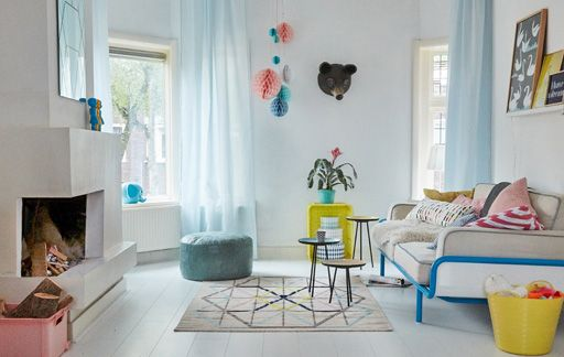 Take a tour of Annemarie's colourful family home