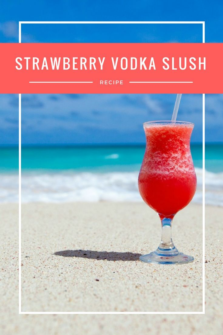 Strawberry Vodka Slush Recipe | This easy summer cocktail is perfect for a crowd. It's simple to make, tastes amazing and is loaded with vodka. You've GOT to make it!