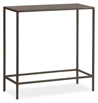Slim End Tables In Natural Steel