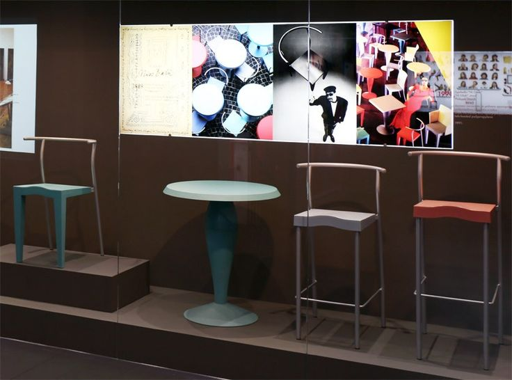 the newly renovated museum showcases the italian company's extensive furniture production, including the world's first plastic chair.