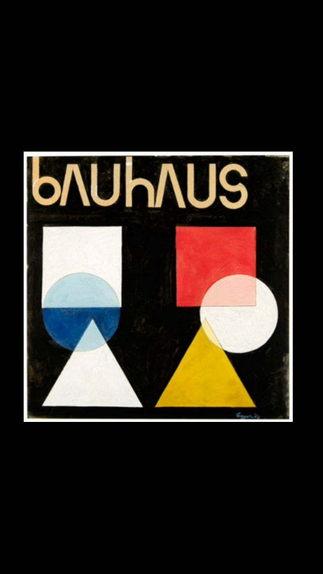 "Herbert Bayer - "" Ohne Titel (Poster design for the Bauhaus) "", 1968 - Gouache over graphite on cardboard - 59,8 x 59,5 cm"