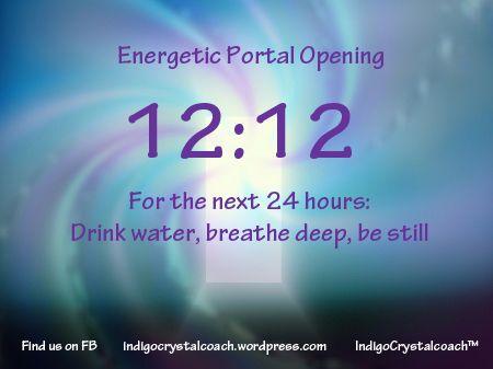 12:12 Energy Portal Message  http://www.facebook.com/IndigoCrystalCoach