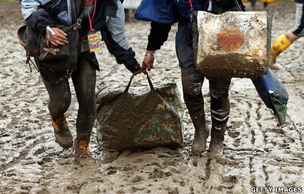 The science of Glastonbury mud!  #Glastonbury #festival #mud #wellies #music